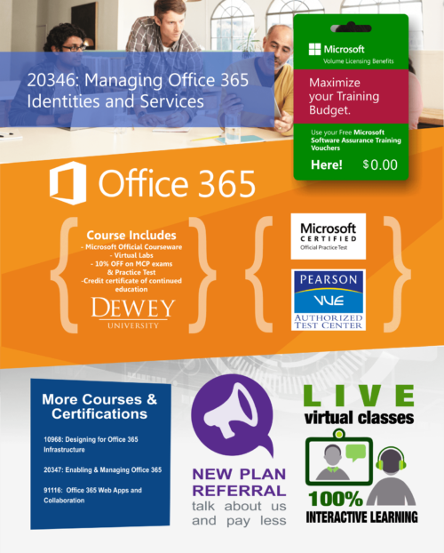 20346 Managing Office 365 Identities and Services