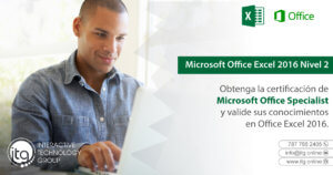 Excel 2016 Nivel 2 @ Puerto Rico Science, Technology, and Research Trust