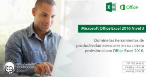 Excel 2016 Nivel 3 @ Puerto Rico Science, Technology, and Research Trust