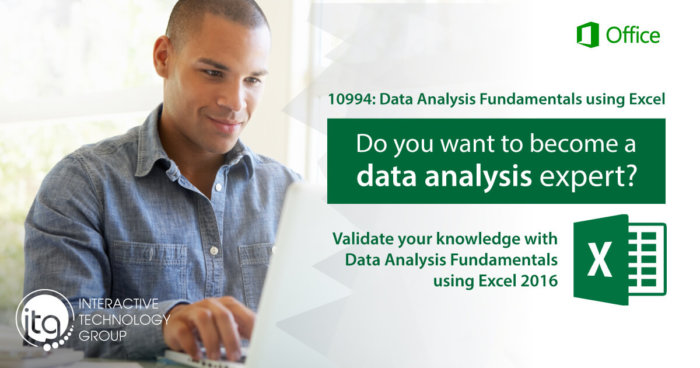 10994: Data Analysis Fundamentals using Excel 2016